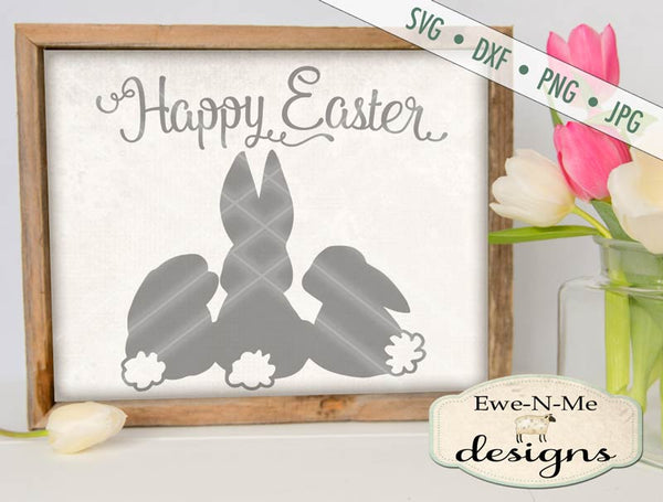 Happy Easter - Bunnies - SVG