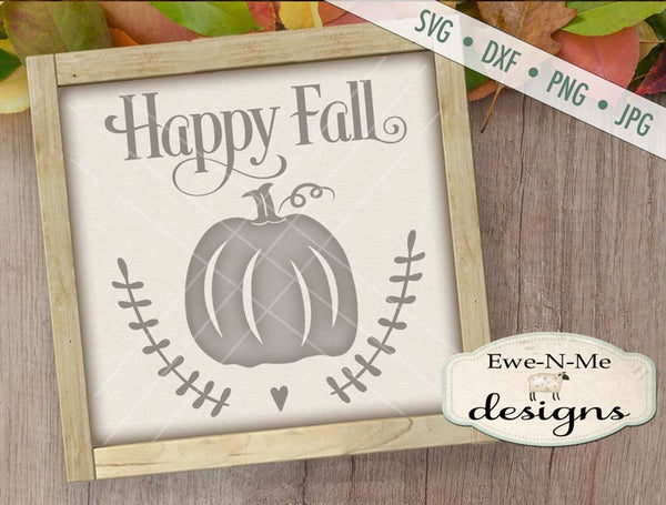Happy Fall Pumpkin - SVG