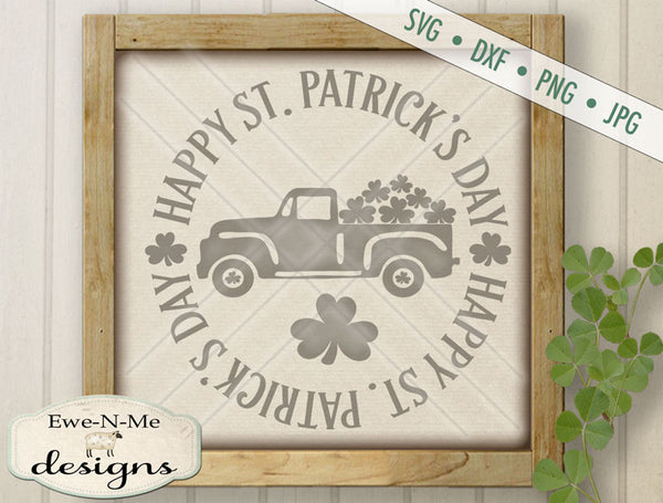 Happy St. Patrick's Day Truck - SVG