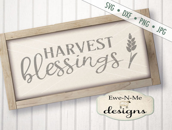 Harvest Blessings - SVG
