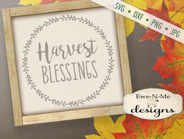 Harvest Blessings Wreath - SVG