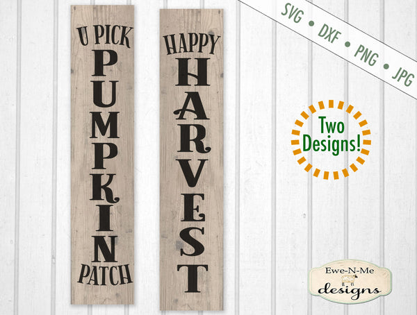 Pumpkin Patch - Happy Harvest - Vertical  - SVG