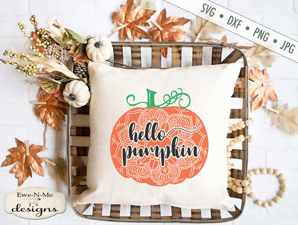 Hello Pumpkin Mandala - SVG