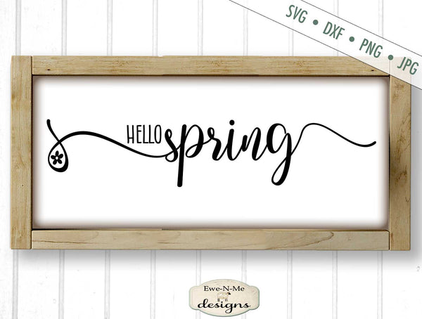 Hello Spring - Flower - SVG