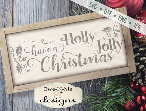 Holly Jolly - SVG