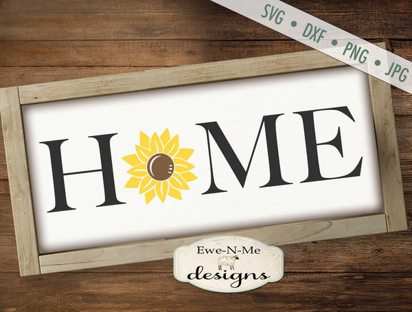 Home Sunflower - SVG