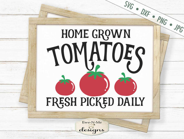 Home Grown Tomatoes - SVG