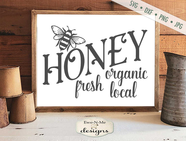 Honey - Local Organic Fresh - SVG