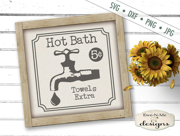 Hot Bath - Towels Extra - SVG