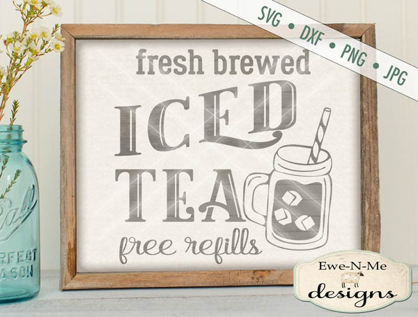 Fresh Brewed Iced Tea - SVG