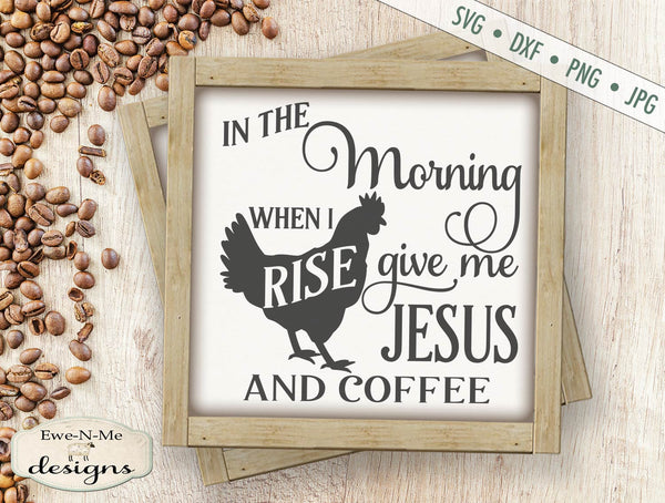 Jesus and Coffee - SVG