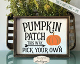 Pumpkin Patch Pick Your Own - Arrow - SVG