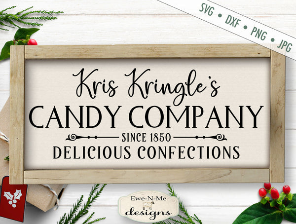 Kris Kringle Candy Company - SVG