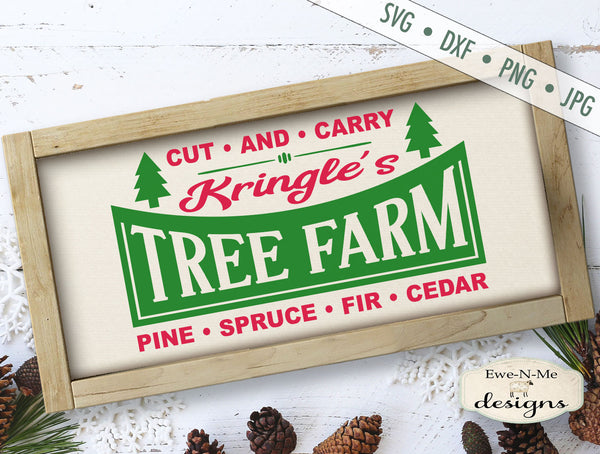 Kringles Tree Farm - Retro Christmas  - SVG