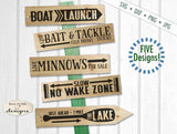 Directional Fishing &  Boating Designs - SVG