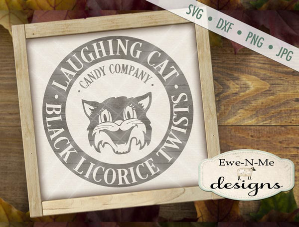 Laughing Cat Licorice - SVG