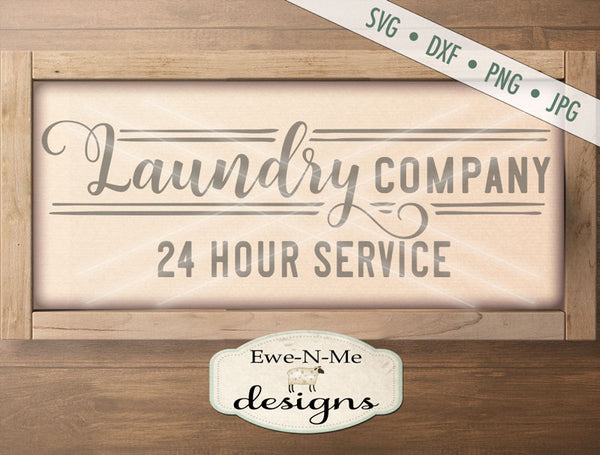Laundry Company Open 24 Hours - SVG