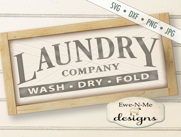 Laundry Company - Wash Dry Fold - SVG