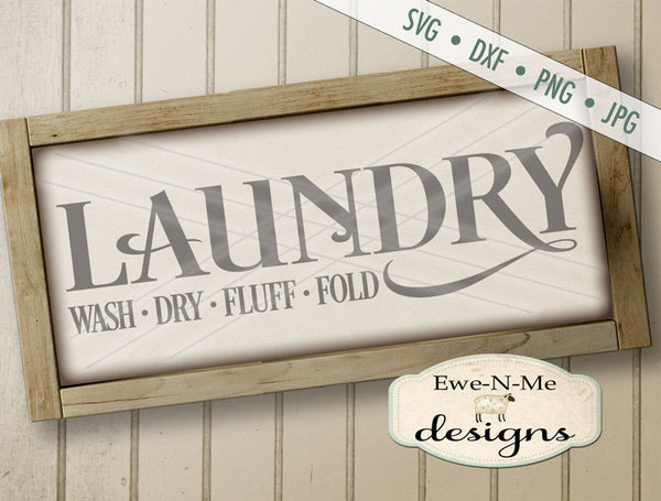 Laundry - Wash Dry Fluff Fold - SVG