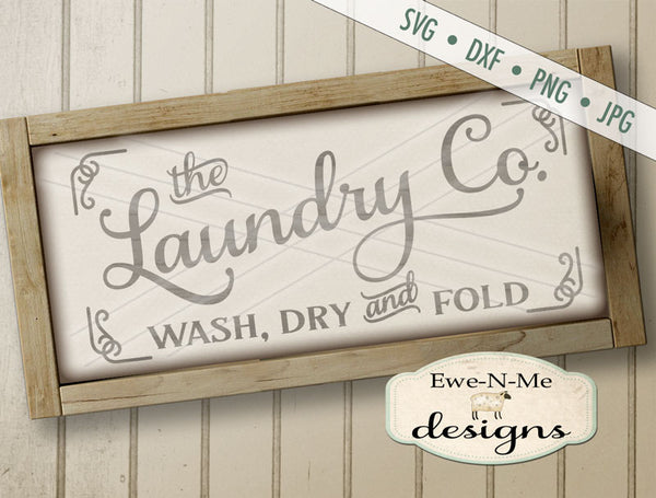 The Laundry Co Wash Dry Fold - SVG