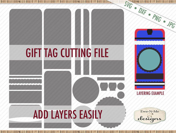 Gift Tag Cut File w/ Rounded Top - SVG