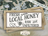 Fresh Local Honey - Bee - SVG