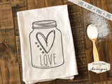Love Heart - Valentine - Mason Jar - SVG