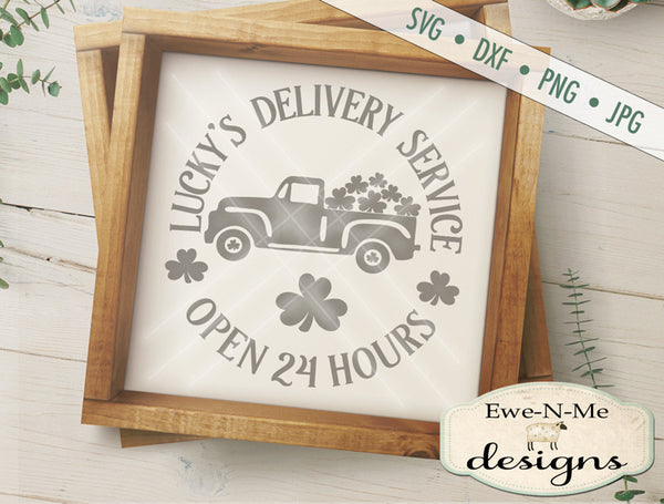Lucky's Delivery Service Truck - SVG