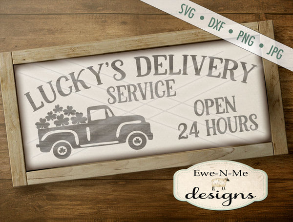Luckys Delivery Truck - SVG