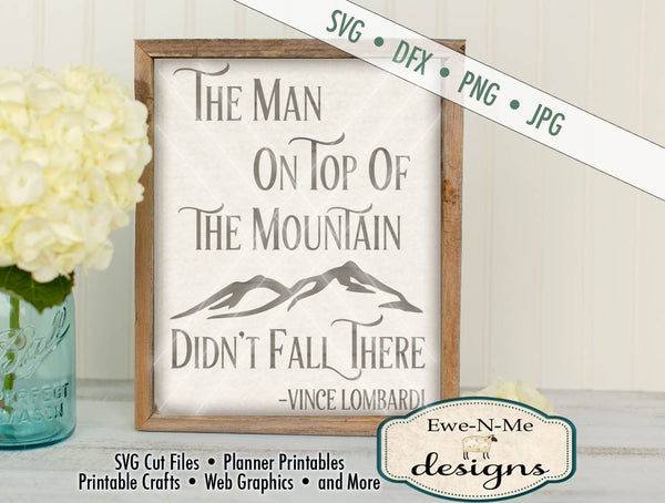 Man on Top of the Mountain SVG