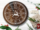Christmas Clock Face - Believe In Magic - SVG