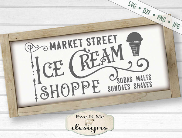 Market Street Ice Cream Shoppe - SVG