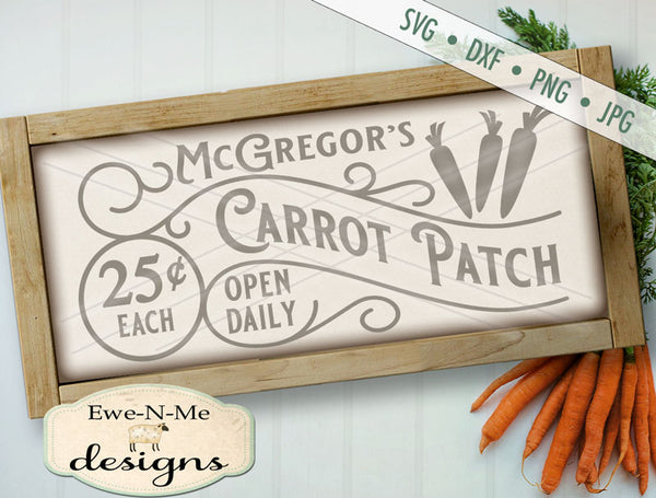 McGregors Carrot Patch - SVG