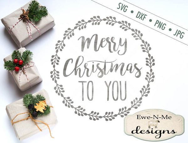 Merry Christmas Wreath - SVG