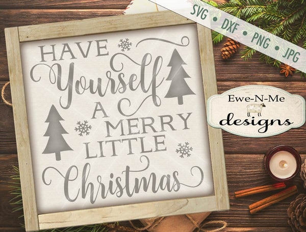 Merry Little Christmas - SVG