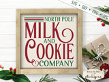 North Pole Milk and Cookie Company - Christmas - SVG