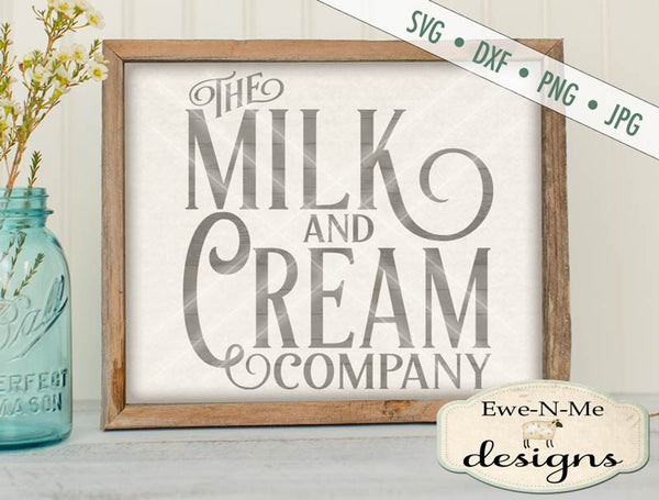 Milk and Cream SVG
