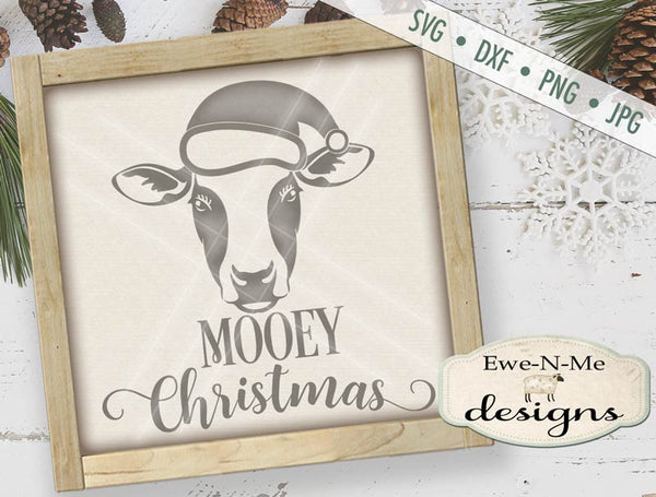 Mooey Christmas Cow - SVG
