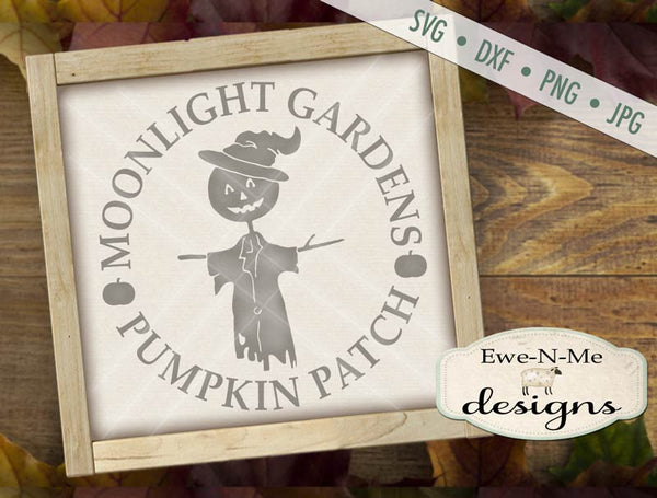 Moonlight Garden Scarecrow - SVG