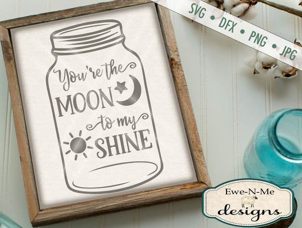 Mason Jar Moon Shine - SVG