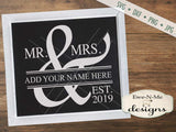 Mr and Mrs Wedding - SVG