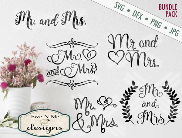 Mr & Mrs Bundle Pack - SVG