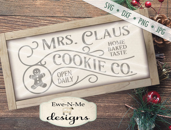 Mrs Claus Cookie Co - SVG