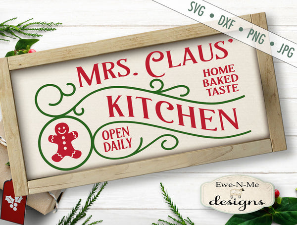 Mrs Claus' Kitchen - SVG