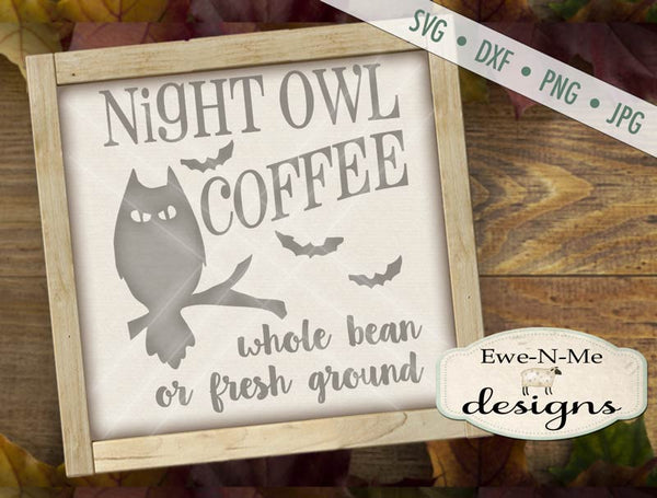 Night Owl Coffee - SVG