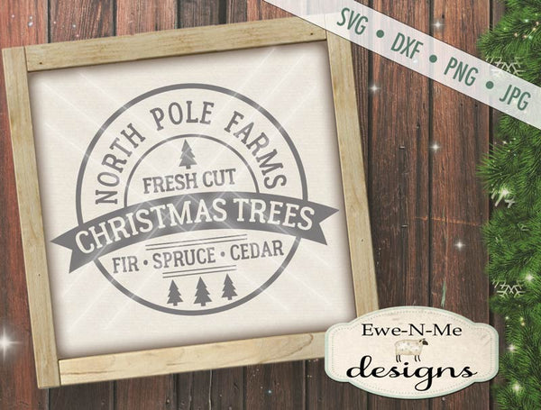 North Pole Farm Christmas Trees - SVG