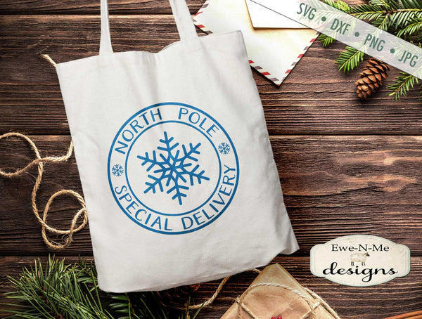 North Pole Special Delivery - Snowflake - SVG