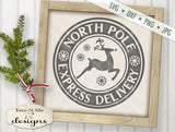 North Pole Express Delivery Reindeer - SVG