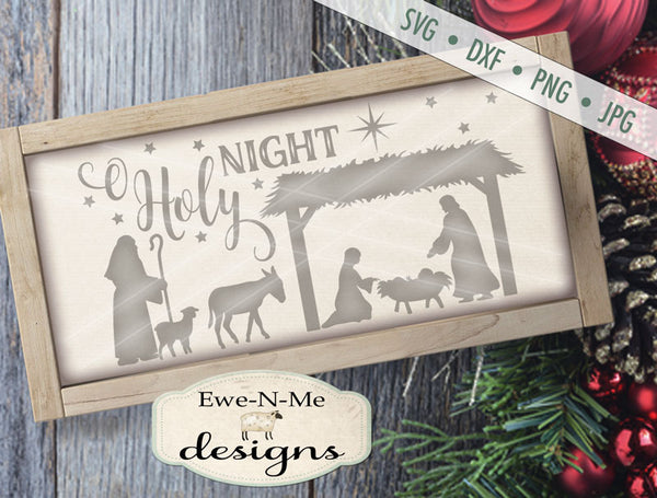 O Holy Night Manger - SVG