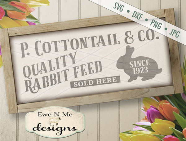 Cottontail Rabbit Feed - SVG